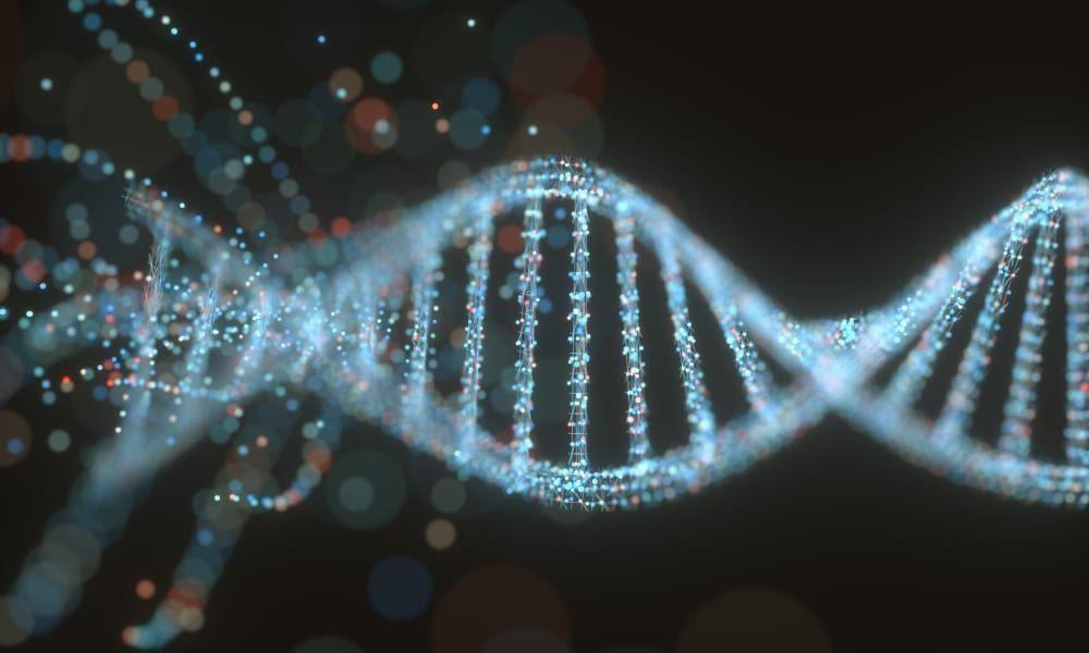 Ilustração 3D de uma molécula de DNA